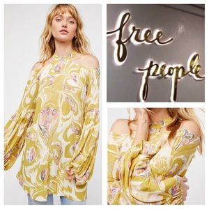 Free People Drift Away Floral Printed Tunic.  NWT.